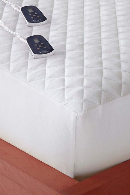 Shavel Micro Flannel Electric King Mattress Pad White Required