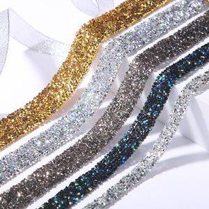 Diamante Mesh Diamond Effect Wedding Cake Table Glass Decor Wedding Ribbon BLING