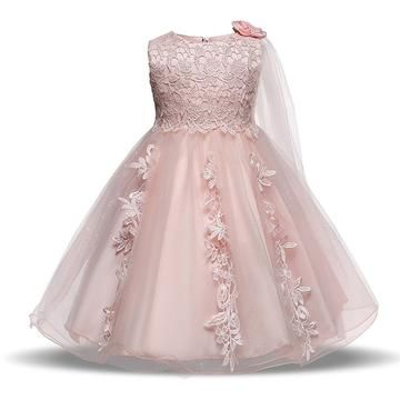 Girl Toddler Princess wedding Christening dress gown party tulle 2yrs