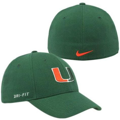 Nike Miami Hurricanes Dri-FIT Swoosh Flex Hat - Green  2c47264d266