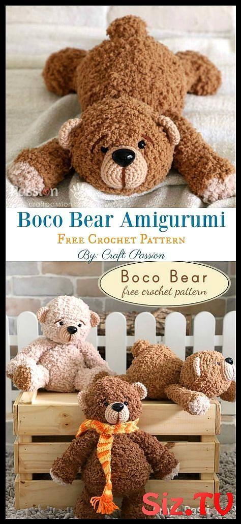 Free Crochet Teddy Bear Pattern | Crochet teddy bear, Crochet ... | 1031x474
