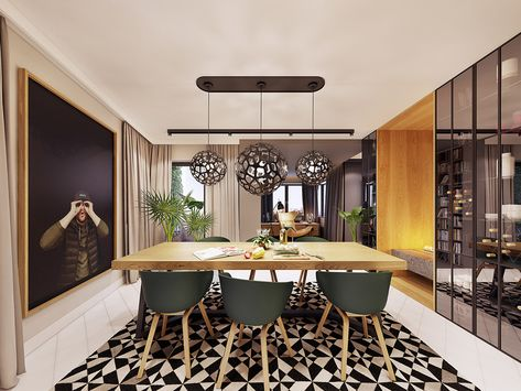 Feature Rich Decor In Family Friendly Apartment Home Decoration