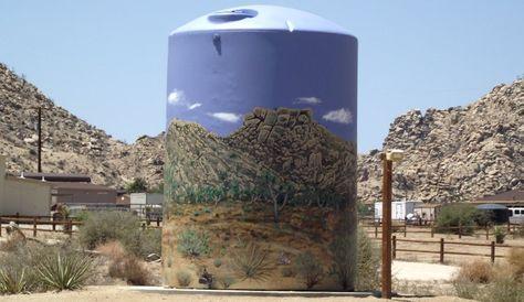 David Greene, Pioneertown water tank