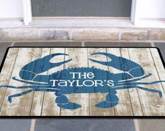 Crab Door Mat Beach House Doormat