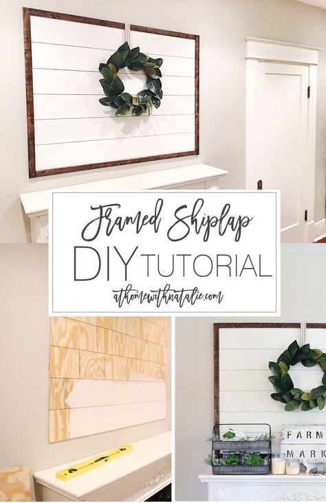 Framed Shiplap DIY Tutorial