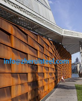 Pier 35 A588 Weathering Steel Ecological Park And City Beach New York Landscaping Retaining Walls Weathering Steel Health Department