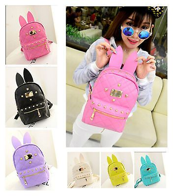 0c7a6b0f8b0c BUNNY EARS backpack wonderland rabbit pastel cute kawaii harajuku Handbag  bag