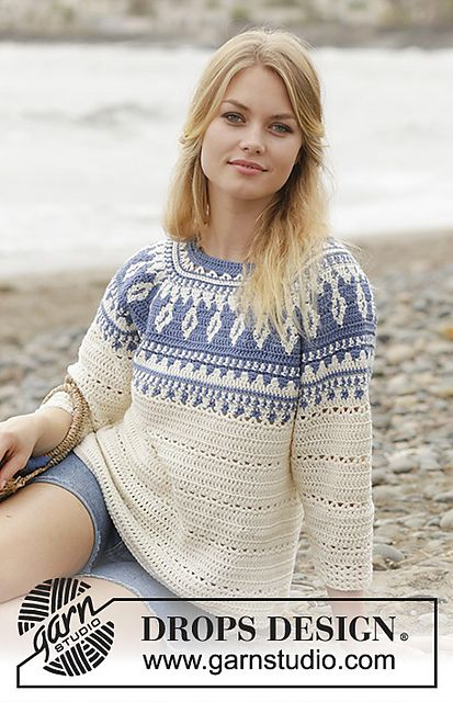 186 34 Nordic Fling Crochet Top Pattern Sweater Crochet Pattern Sweater Pattern