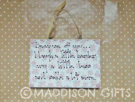 Friends Like You Quote Wall Plaque Ornament Friendship Thank You Gift Idea