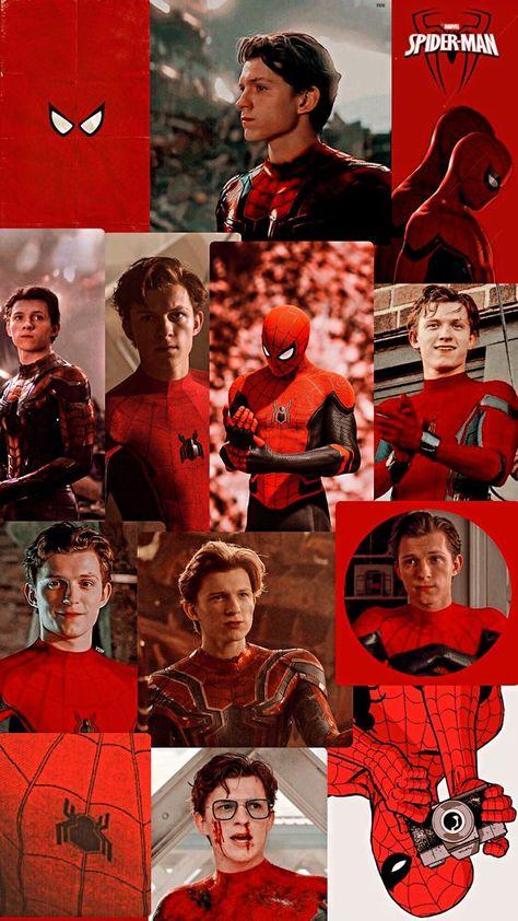 Spiderman Wallpaper red aesthetic in 2021   Tom holland spiderman, Tom holland, Tom holland imagines