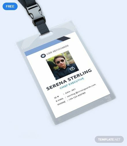 Security Guard Id Card Template Free Pdf Word Apple Pages Illustrator Publisher Id Card Template Photography Business Cards Template Birthday Card Template
