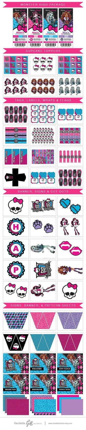 List Of Pinterest Ever After High Party Ideas Cake Cupcake Toppers