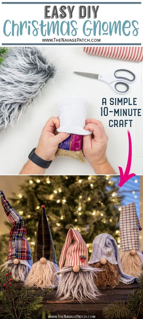 Easy DIY Christmas Gnomes   The Navage Patch