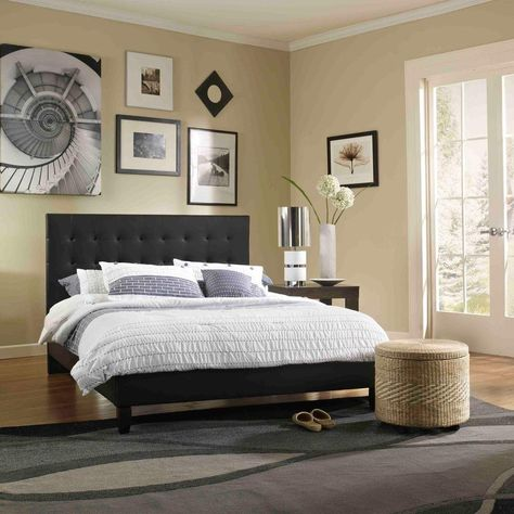 Rest Rite Mckenzie Black Full Upholstered Bed Hcmckbedbldb