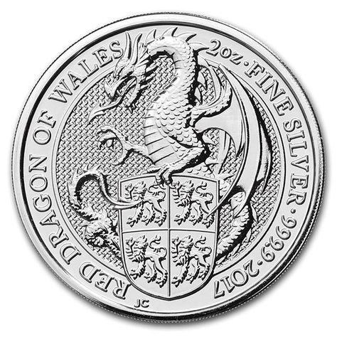 2018 Queen/'s Beast Collection The Black Bull Of Clarence 2 oz .9999 Silver Coin