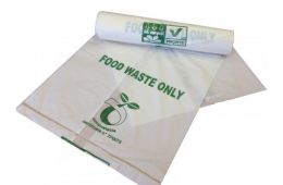 Compostable Bags/Caddy Liners - 7Ltr Capacity  High quality 100% biodegradable and compostable bags Ideal for use with 7L kitchen caddies Bag size 200mm x 360mm x 390mm Natural colour 7 litre capacity 25 bags on a roll  £2.15 + vat