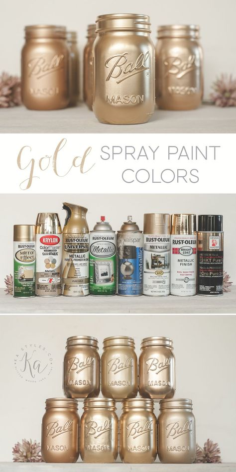 Best Gold Spray Paint Sprinkled And Painted At Ka Styles Co Metallic Gold Spray Paint Best Gold Spray Paint Gold Spray Paint