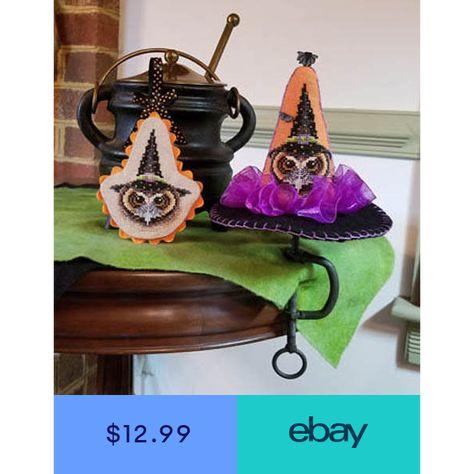 Hocus Pocus IV Halloween Owl Ornament Blackberry Lane Cross Stitch Pattern