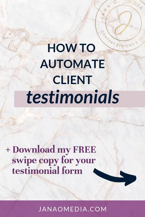 5 Tips for Getting Stunningly Good Testimonials from Clients - Jana O. Media