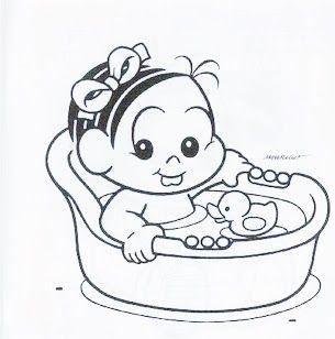 Desenho Da Monica Bebe Para Pintar Desenhos Para Criancas