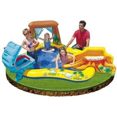 Intex 7 9ft X 6 25ft X 43in Dinosaur Play Center Inflatable Pool Electric Pump Dinosaur Inflatable Pool Dinosaur Play Play Pool