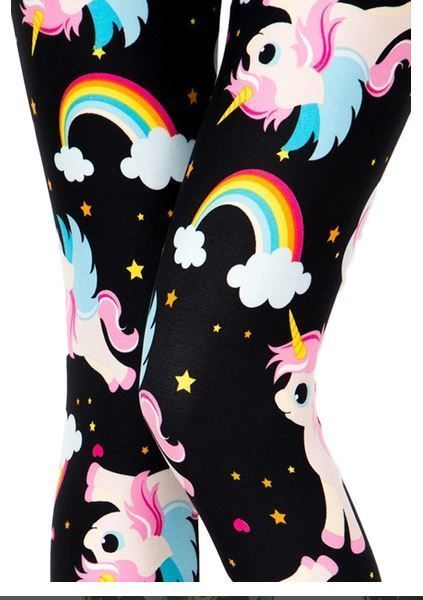 e1bf30d65d OS ONE Size UNICORN RAINBOW Leggings Fits 2-12 Buttery Soft NWT ...