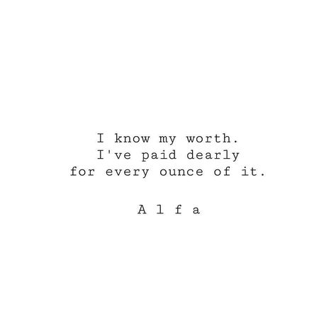 "Typed poem on 5""x4"" stationary ""I know my worth..."" -by Poet Alfa ~ Hand stmaped ~ One of a kind by AlfaWorldwide on Etsy"