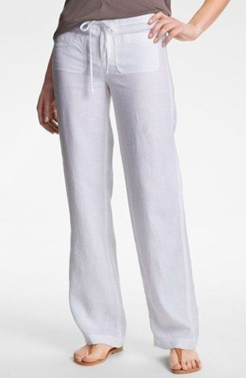 المعكرونة انفصل شحم Pantalon De Lino Blanco Mujer Ffigh Org