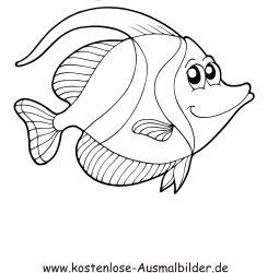 Ausmalbild Fisch 7 Ausdrucken Ausmalbilder Fische Ausmalen Ausmalbilder