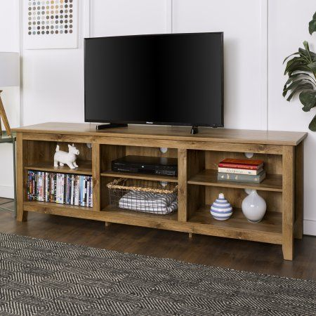 Walker Edison Wood Tv Media Storage Stand For Tvs Up To 78 Barnwood Walmart Com In 2020 Wood Tv Stand Rustic Tv Stand With Storage Tv Stand Wood