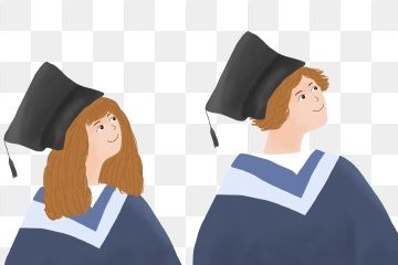 Graduation University Graduation College Students Boy Girl Bachelor Cap Bachelor Gown PNG Transparent Clipart Image and PSD File for Free Download