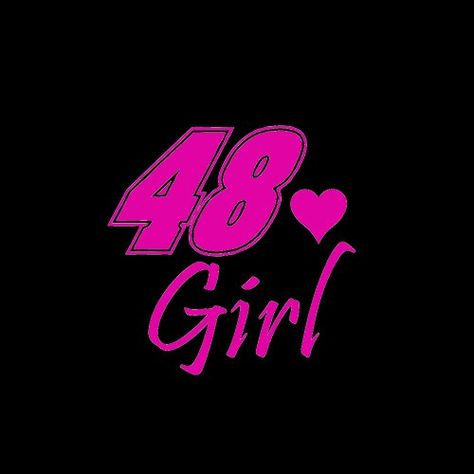 #NASCAR #48 Jimmie Johnson Girl Car Window Decal Sticker Raspberry Pink 4″ « racedayproducts.com