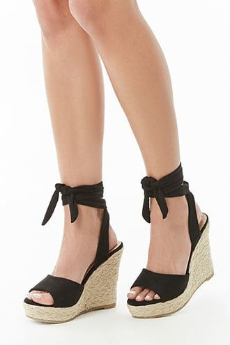 fb77fdfeb3f28 Ermonn Womens Lace Up Wedge Sandals Espadrille Peep Toe Tie Up Strappy Mid  Heel Braided Sandals  Heeled Sandals