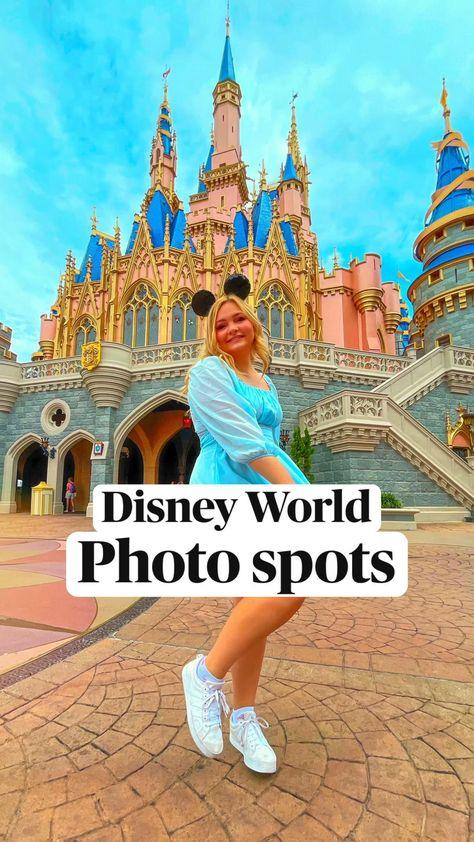 Disney World parks photo spots for Instagram pictures! Magic kingdom, Epcot, hollywood studios, etc
