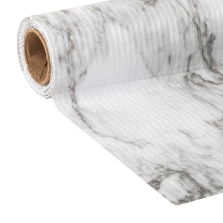 Home Shelf Liner Grey Marble Kitchen Drawer Liners