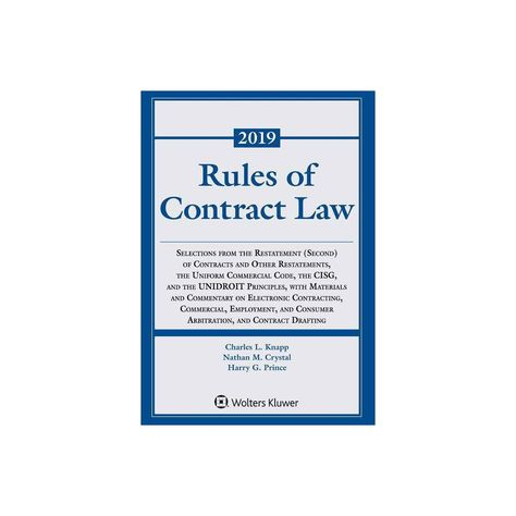 Rules of Contract Law - (Supplements) by Charles L Knapp & Nathan M Crystal & Harry G Prince (Paperback)