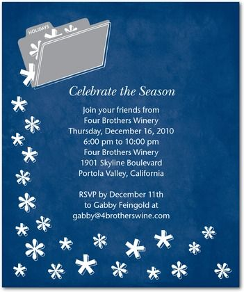 Corporate Holiday Party Invitations Christmas Pinterest