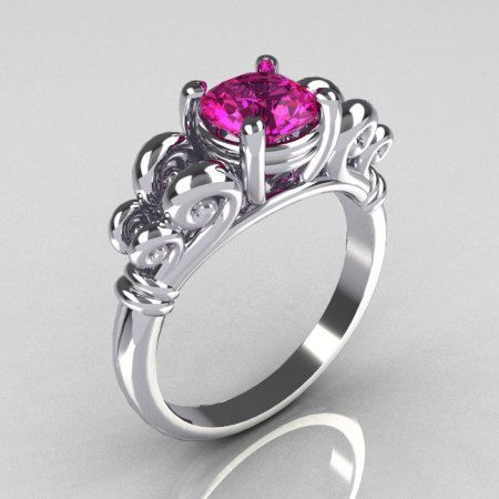 10k White Gold Pear Shape Created Pink Sapphire Ring Size 7 You Can Find More Details By Visiting The Image Pink Sapphire Ring White Gold Hand Made Jewelry