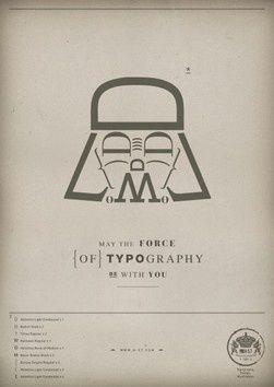 Typography Darth Vader