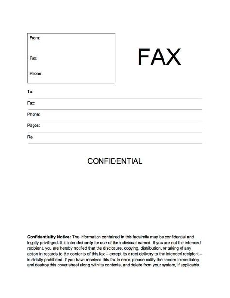 Cute Fax Cover Sheet  PopularFaxCoverSheets