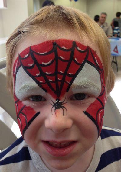 Trucco del viso per Carnevale per bambini da Spider-Man