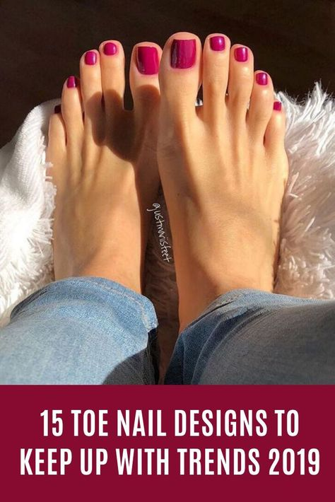 15 Toe Nail Designs To Keep Up With Trends 2019 #nails #Toenail #fashion #ToeNailDesigns #Nailart #cute #ShortNails
