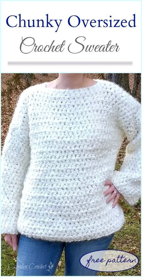 81f6d6db1 Oversized Color Block Crochet Sweater Pattern