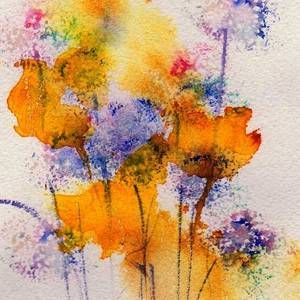 Blue Thistle In 2020 Watercolor Art Abstract Watercolor Floral
