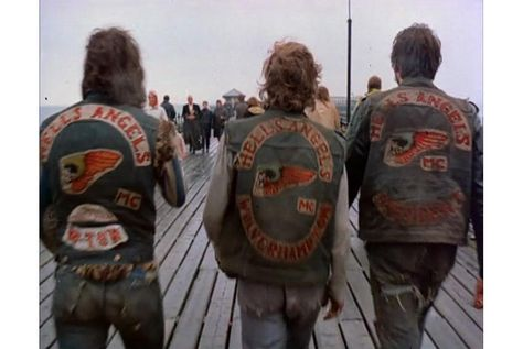 The biker vest (or cut) is the way most motorcycle clubs show their affiliation and has been a staple of the outlaw culture since WWII.