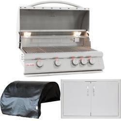 Blaze Lte 3 Piece 32 Inch Natural Gas Outdoor Kitchen Package Outdoor Kitchen Outdoor Kitchen Appliances Outdoor Kitchen Design