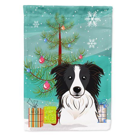 Border Collie Dog Christmas Holiday Ornament Up To Snow Good