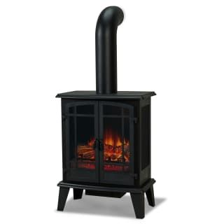 Real Flame 5020e Bk Black Foster 4700 Btu 1400w 25 Inch Wide Free Standing Vent Free Electric Stove Fireplace With Faux Chimney In 2021 Electric Stove Fireplace Real Flame Free Standing Electric Fireplace
