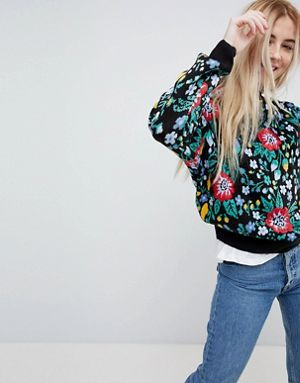 special section amazing selection official site Pull&Bear Knitted All Over Floral Jumper | Clothing | Floral ...
