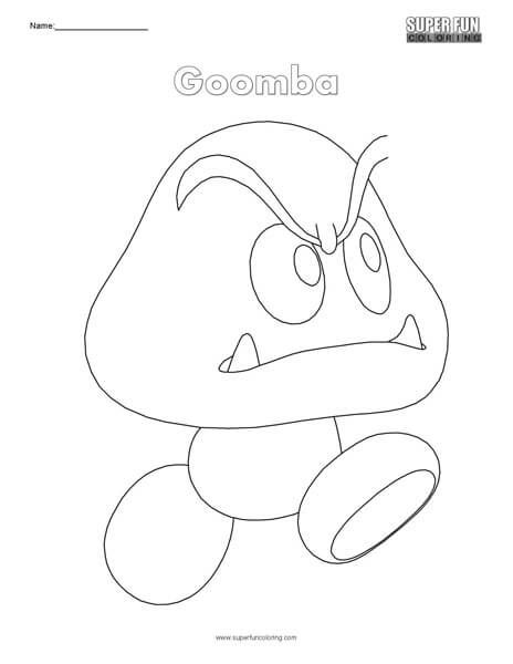 Goomba Nintendo Coloring Cool Coloring Pages Color Fun Colors